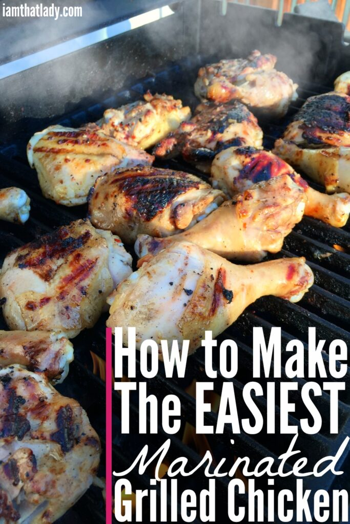 Looking for a super cheap yet delicious crowd pleaser? Check out this grilled chicken and an EASY 4 ingredient marinade!