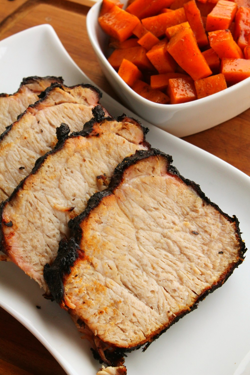 Pork loin grills so nicely - and this honey mustard marinade is PERFECT. You have to try this!