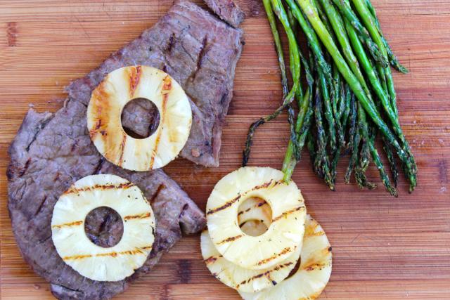 Grilled Teriyaki Steak with Pineapple