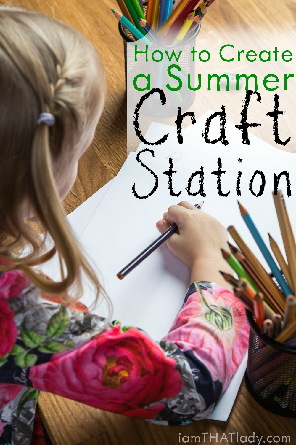 Looking for an education way for your kids to get through the summer? Check out how to easily create a temporary summer craft station!