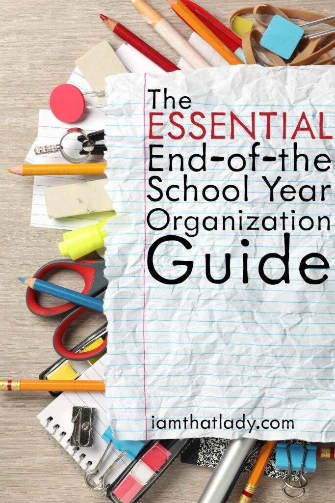 End of the School Year Organization