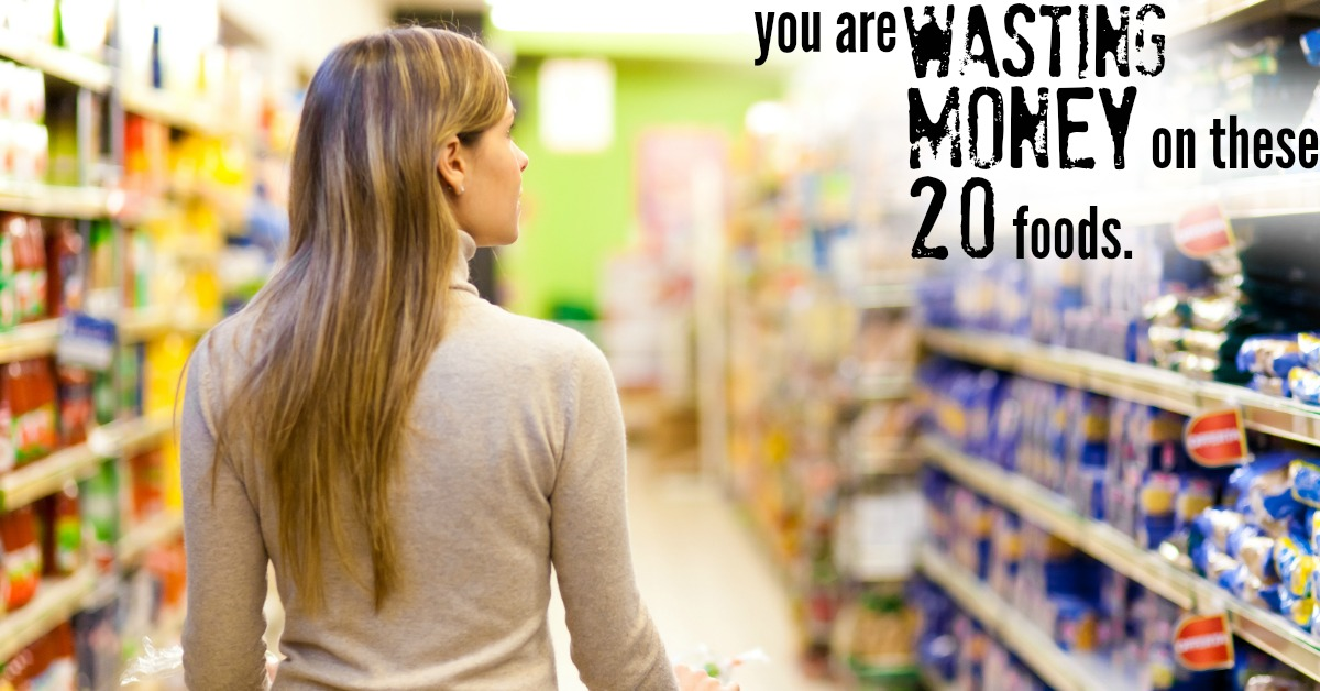 Wasting money foods FB
