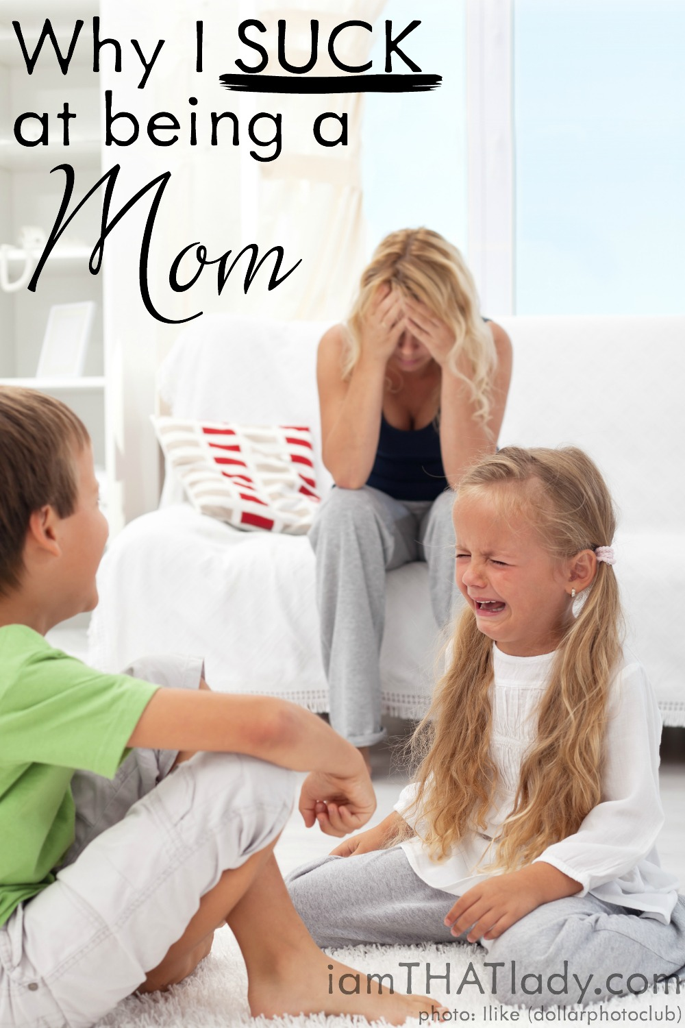 Why I suck at being a mom Pinterest