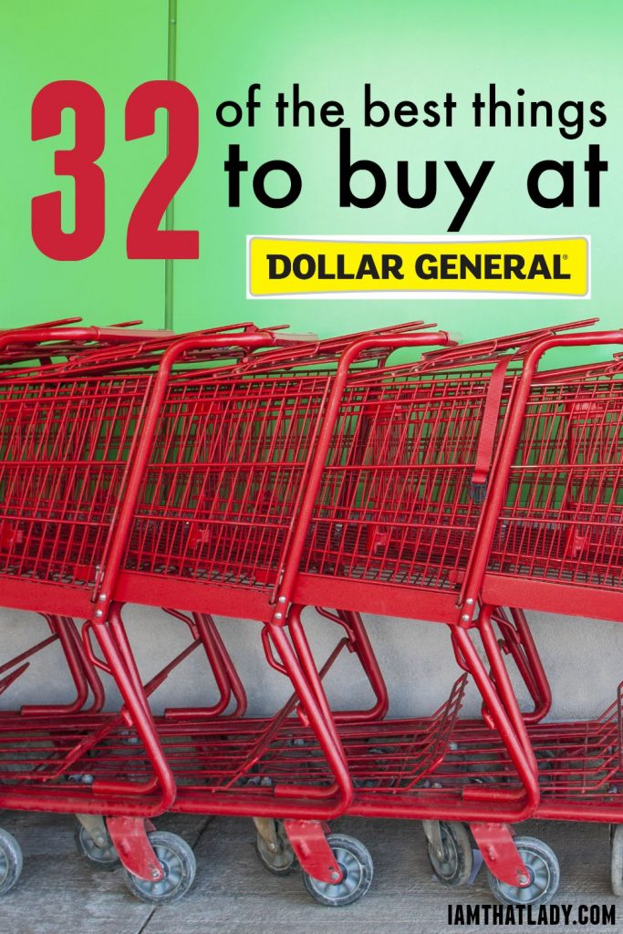 The Best things to buy at Dollar General