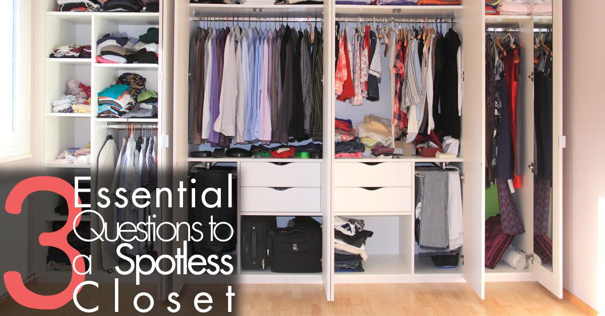 Essential Steps to a spotless closet FB