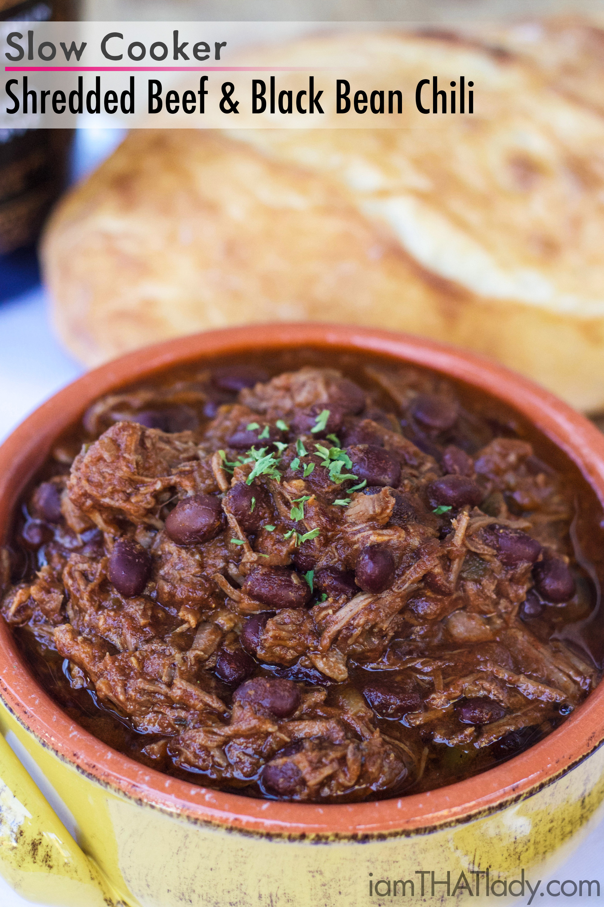 The Shredded Beef and Black Bean Chili recipe will win your chili cookoff competition thi year! It is AMAZING.