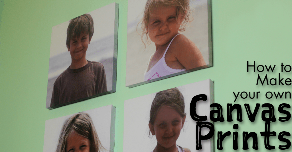How to make your own canvas prints