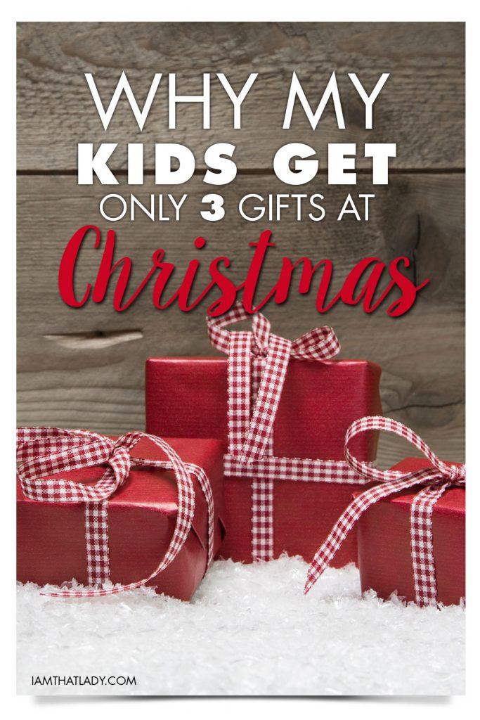 3 gift Christmas rule
