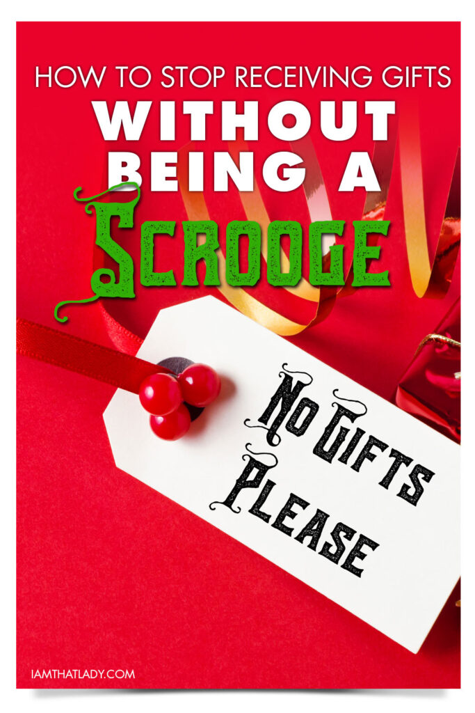 How do you tell your family members that you want them to stop buying gifts for your kids? This is a tough question, especially learning how to say it in a way that makes you not sound like a scrooge!
