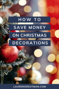Save Money Christmas Decorations