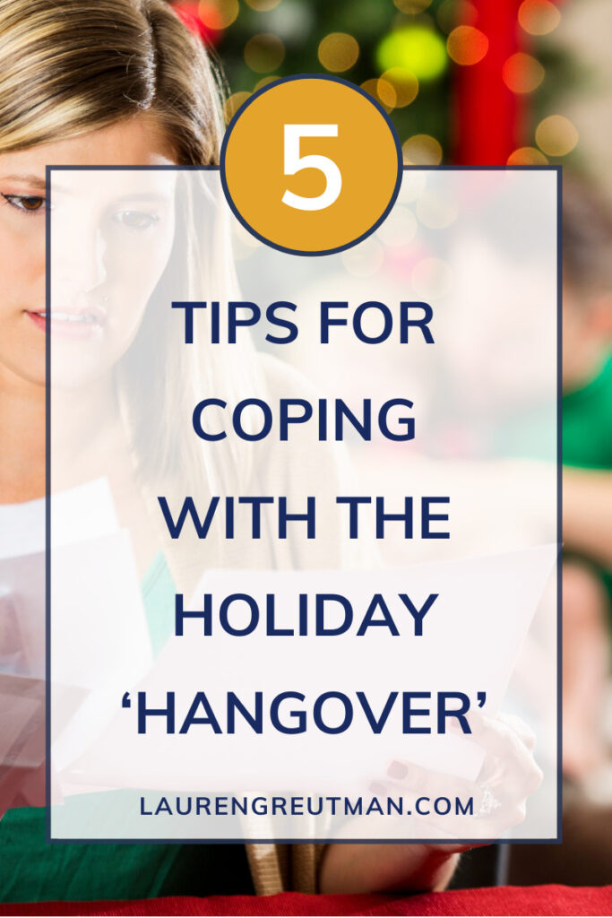 coping with the holiday hangover