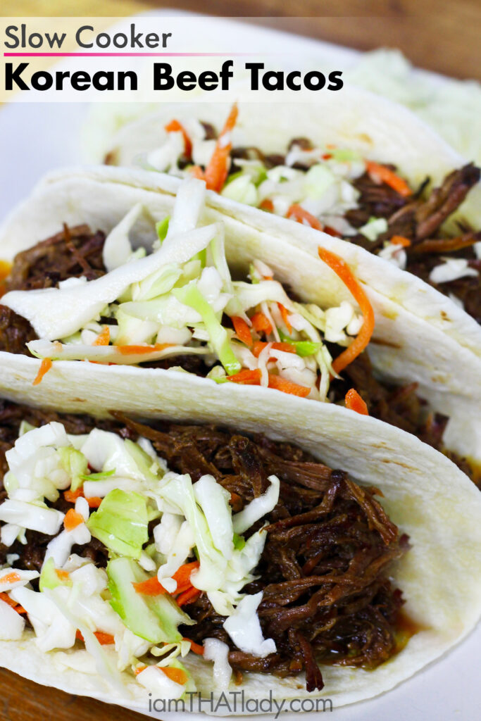 Oh my. Slow Cooker Korean Beef Tacos. Holy cow these are good.