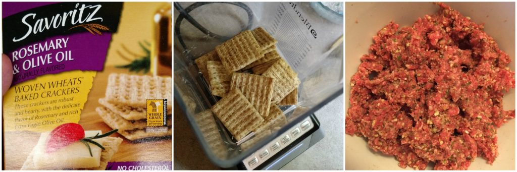 Savoritz Crackers used in meatball sub burger