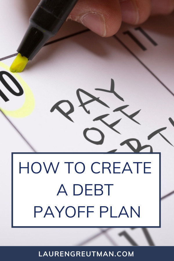 How to create a Debt Payoff Plan