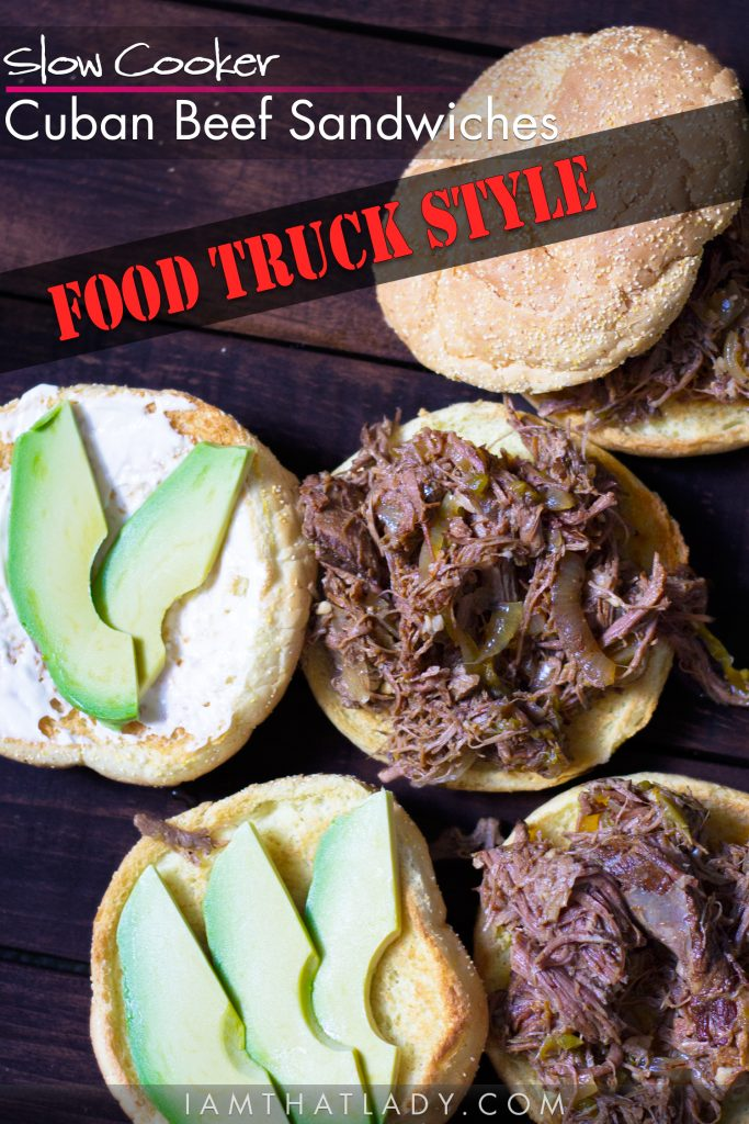These Slow Cooker Cuban Beef Sandwiches will taste like you just got them from the best food truck in town! And they are so easy to make!