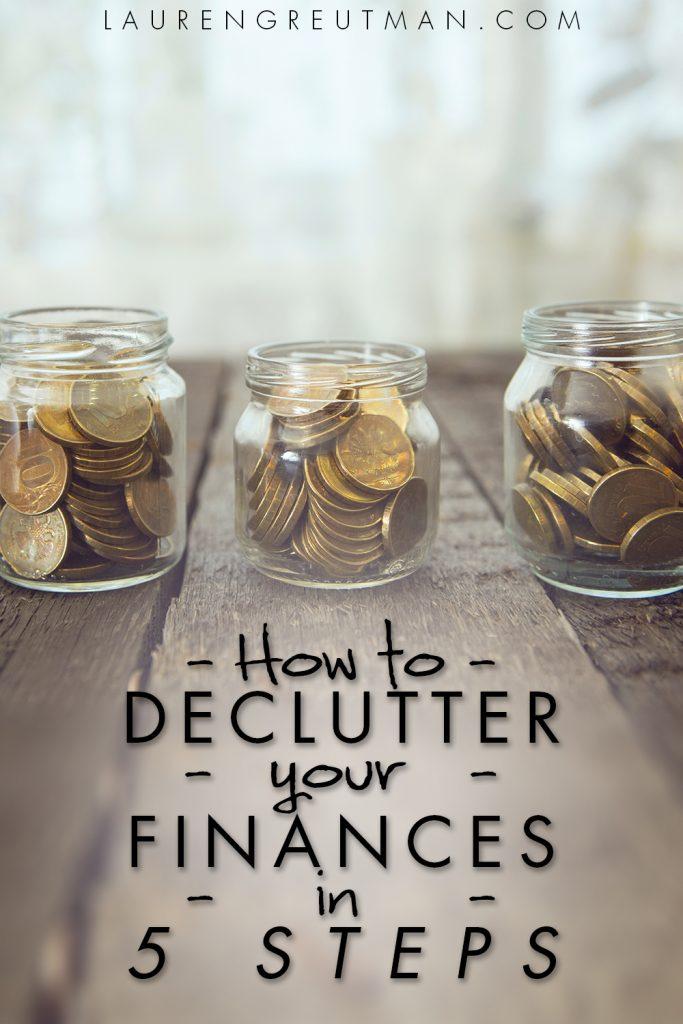 declutter finances