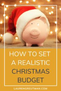 set a realistic christmas budget