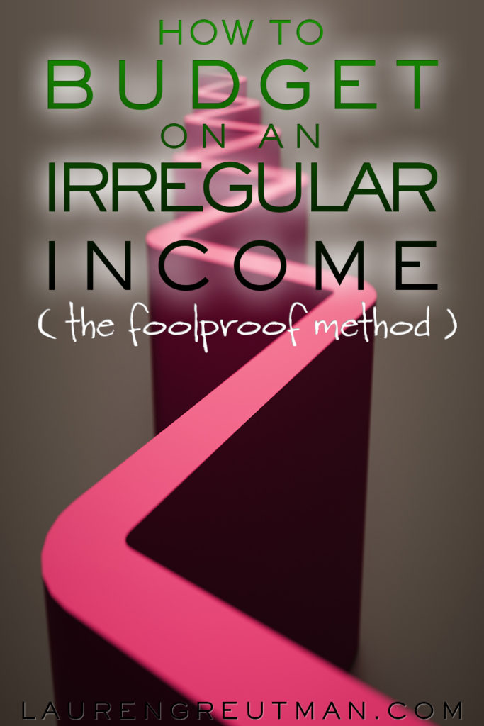 how to budget on an irregular income