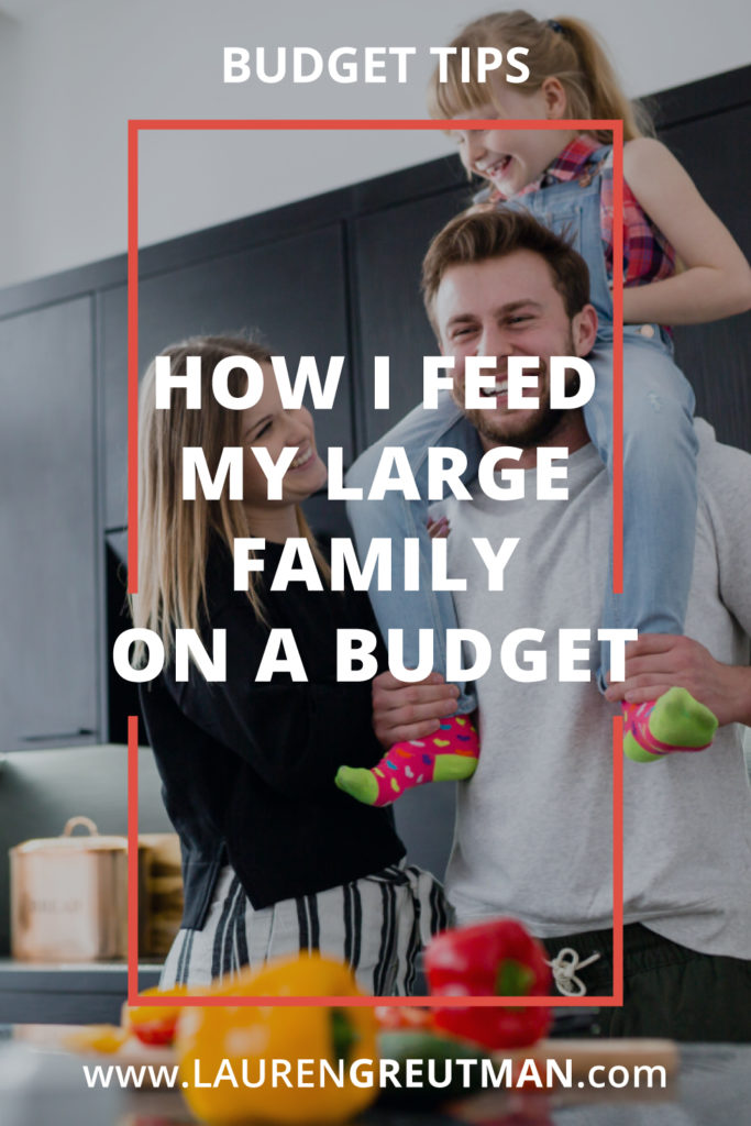 How I Feed My Large Family on a Budget