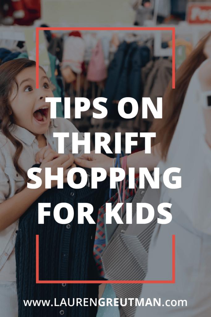Thrift Shopping For Kids
