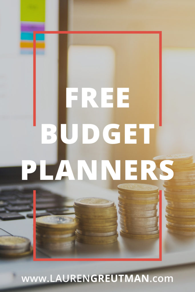 free budget planners