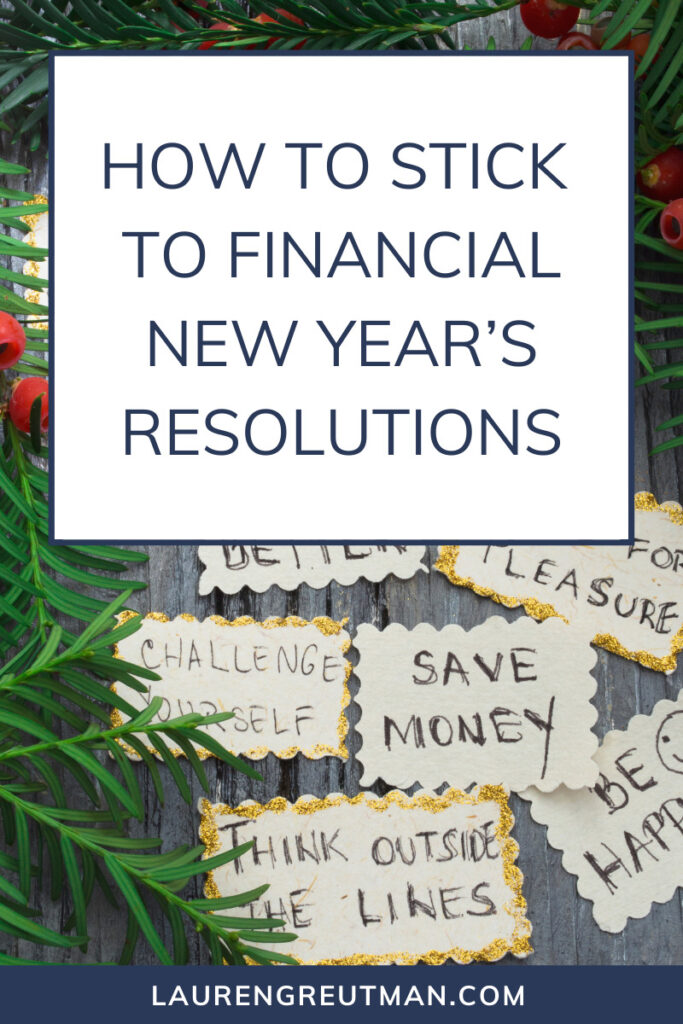How to Stick to Financial New Year's Resolutions