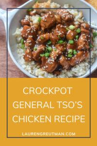 Crockpot General Tso's Chicken