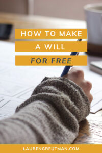 make a will for free