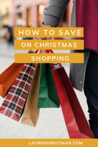 how to save on Christmas shopping