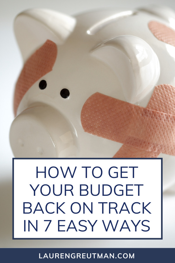 Get Your Budget Back On Track