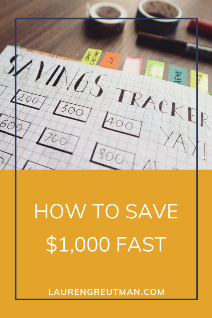 How to Save $1,000 Fast