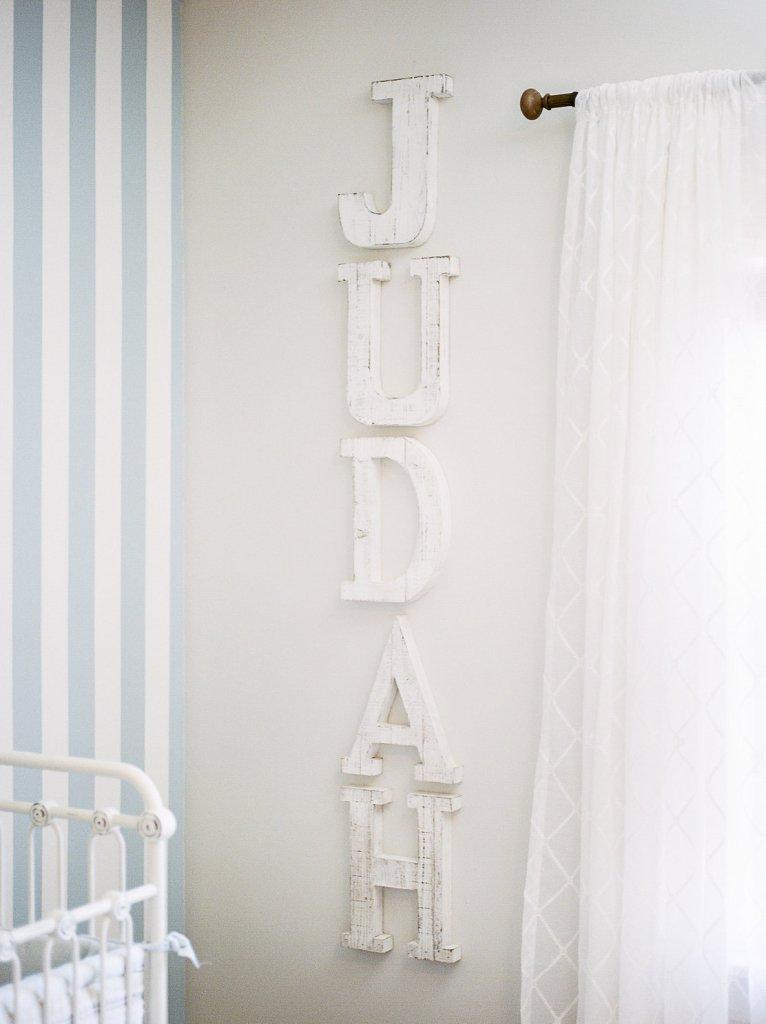 Blue and White Nursery, Pottery Barn Inspired Nursery, Baby Boy, Portra 400