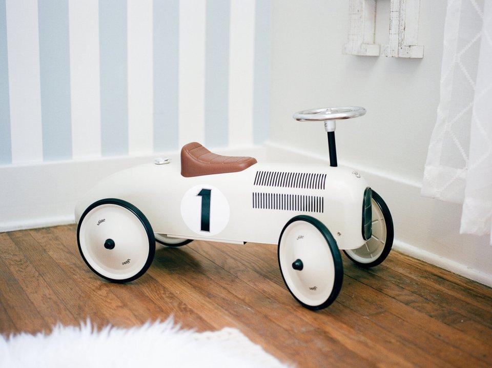 Little Car, Nursery Session, Blue and White Nursery