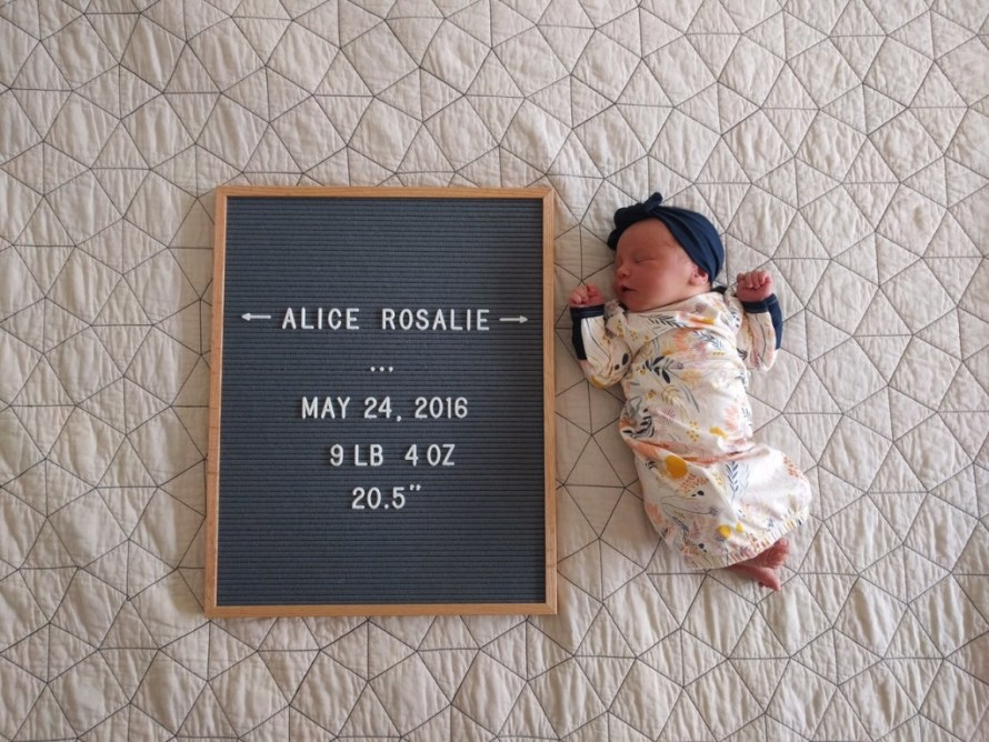 My Birth Story: The Birth of Alice Rosalie // via The Little Things We Do