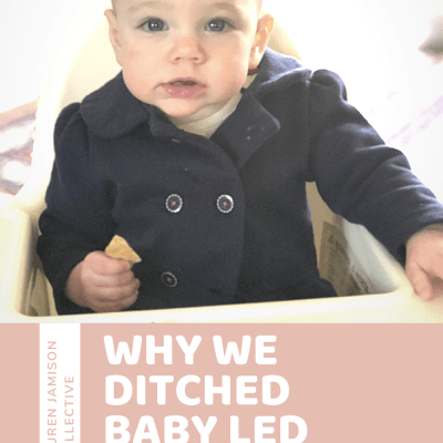 Why We Didn't Follow Baby Led Weaning