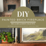How to paint a brick fireplace. Paint a brick fireplace easily and cheaply. #brickfireplace #paintedbrick #howtopaintbrick #greybrick #greybrickfireplace