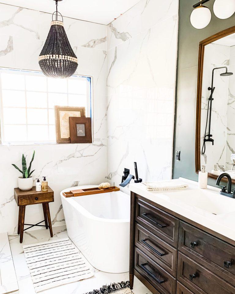 Bathroom Stools + Tables