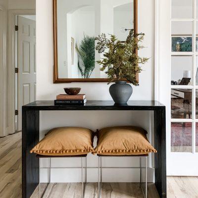DIY Slat Sided Entryway Table