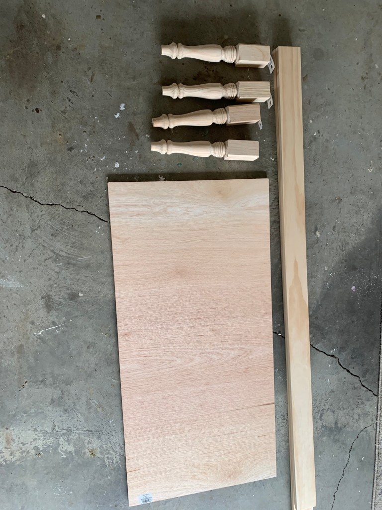 supplies for diy wood bench