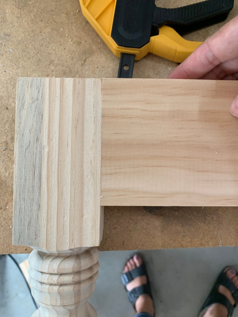 side and leg joint for diy bench