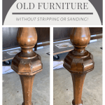 Refinish old furniture without sanding or stripping. Furniture refresh. Fix furniture scratches. Refinish furniture. Minwax stain. Antique furniture makeover. Vintage furniture. #vintagefurniture #furnituremakeover #furnitureflip #antiquedesk #desk #deskmakeover #diydesk