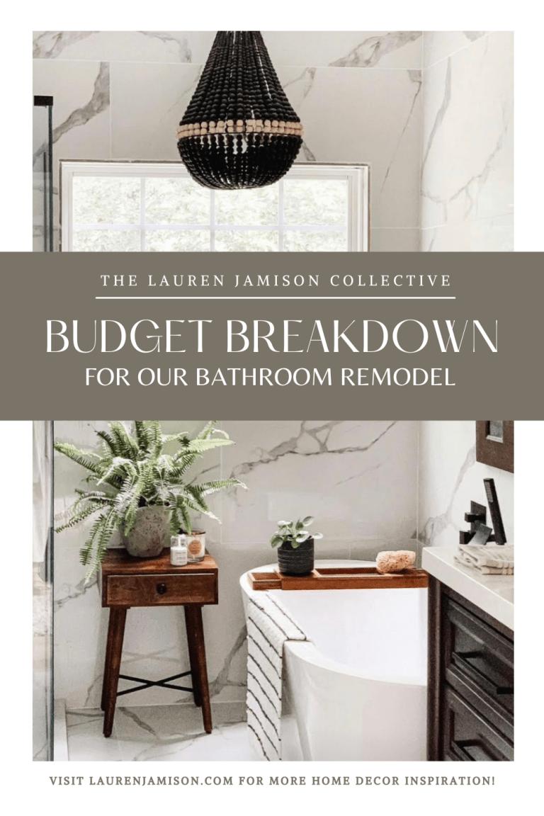 Bathroom Remodel Budget Breakdown