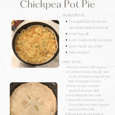 Quick Monday Meal – Chickpea Pot Pie