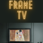 DIY Frame TV. An affordable alternative to the Samsung Frame TV. Using molding to create a frame, and a bracket to attach it to your current TV. Then easily display art from an app on your smart TV or device. #diy #diyframetv #frametv
