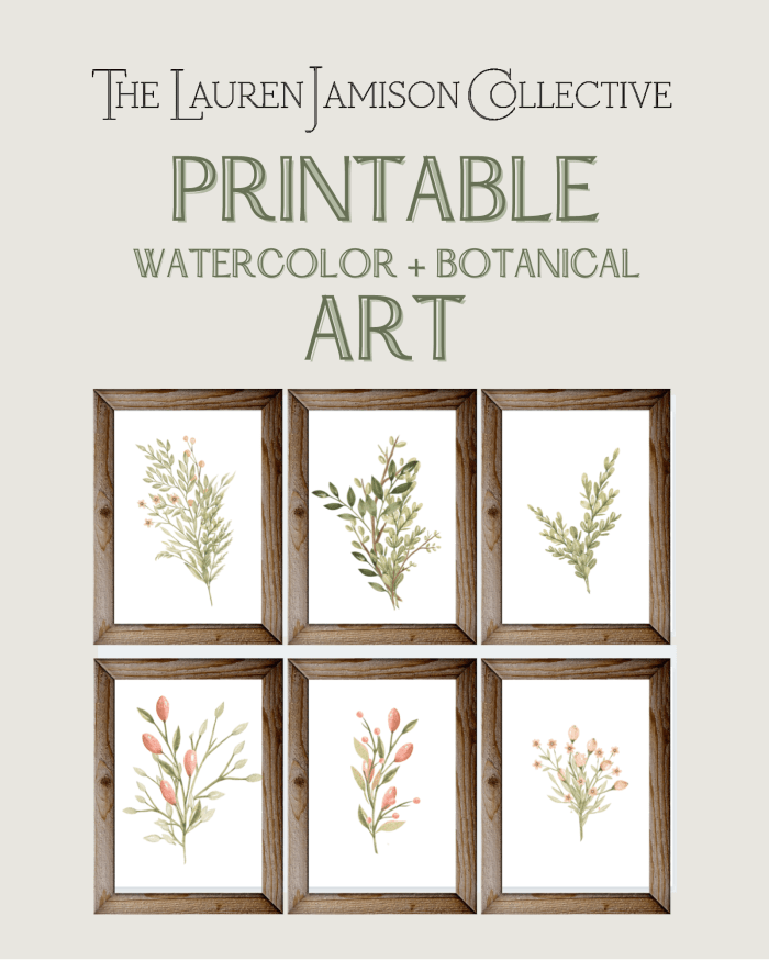 Printable Watercolor + Botanical Art
