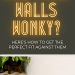 Overcome wonky, unsquare walls by scribing to get the perfect fit for your DIY countertop or shelves!