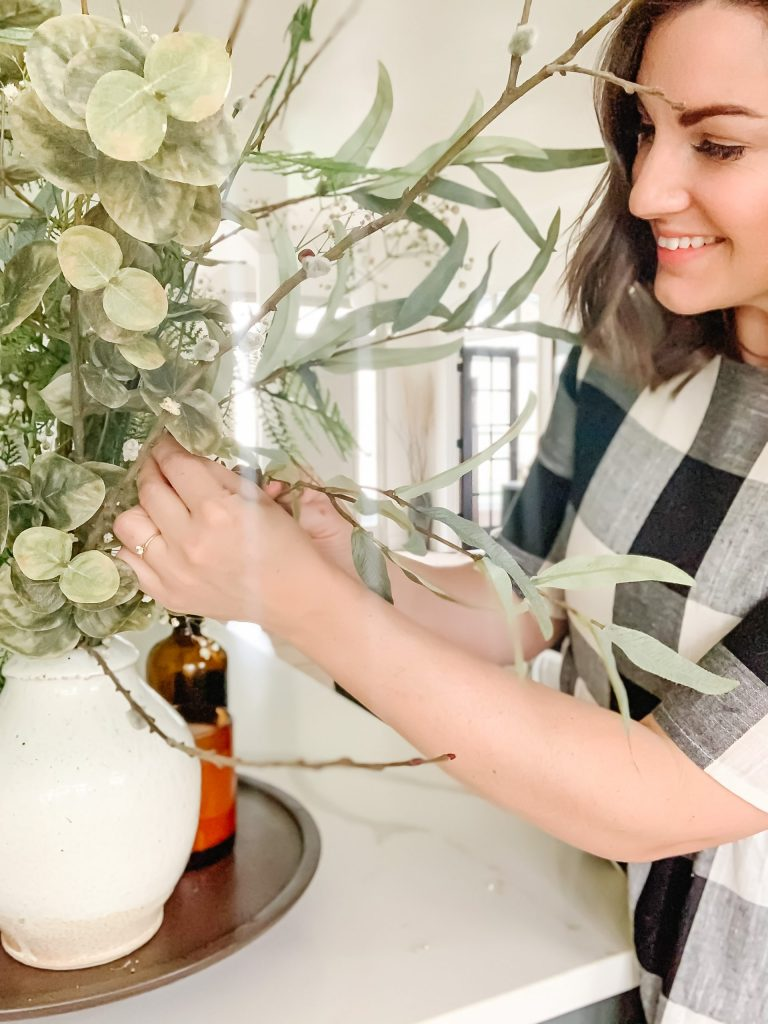 How To Style Faux Flowers + Stems