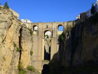 Puente Nuevo from below.