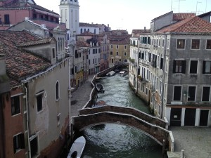 Venice- the view from our balcony...