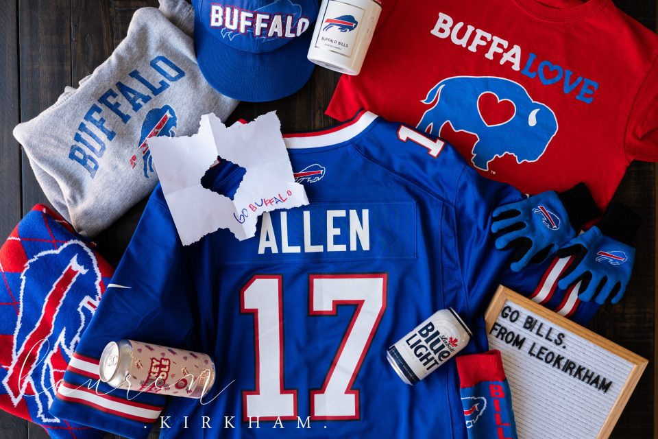flat lay, football, buffalo